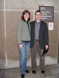 With Noema Bradnanska Ondrasek, Human Rights Intern Report Back Panel, University of Chicago (2009)