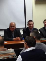 With Ondrej Prostredník, Aleš Opatrný, Ján Juran, Conference, Catholic University in Ružomberok, Slovakia (2012)