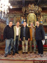 With Ivan Moďoroši, Roberto Miranda, Eldin Villafañe, Ernst Diehl,  Wooden Articular Church of Leštiny, Slovakia (2012)