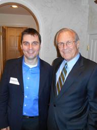 With Secretary Donald Rumsfeld, Washington DC (2013)