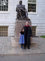 With Danni Ondraskova, Harvard Yard (2005)