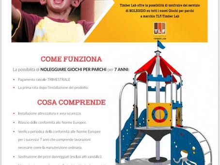 NOLEGGIO OPERATIVO PARCO GIOCHI. Contattateci per info..