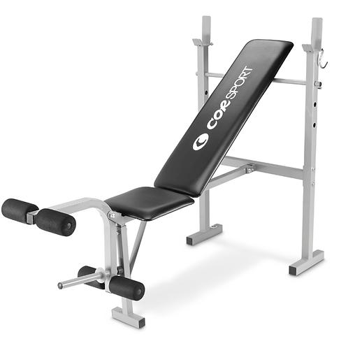 Panca semplice con supporto per bilanciere e leg extension