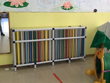 Arzana scuola infanzia. Protezioni caloriferi.