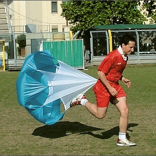 Paracadute con cintura per esercizi di potenziamento della corsa