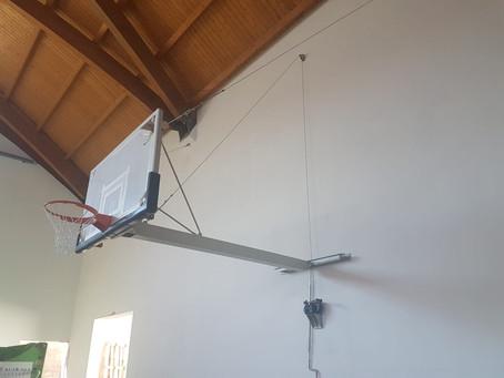 Impianto Basket Monotubo a Parete.Palazzetto Portoscuso .