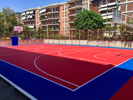 Istituto Randaccio Cagliari.                 Nuovo campo basket Gripper .