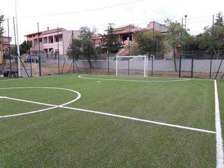 Siliqua (ca) Nuovo campo calcetto in erba sintetica .