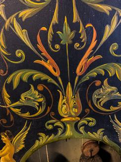 Detalj av ornament, moraklocka