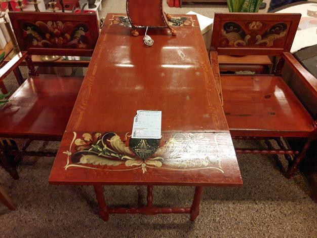 1848-03, 750kr Bord+2 stolar, 60x136, höjd 75cm
