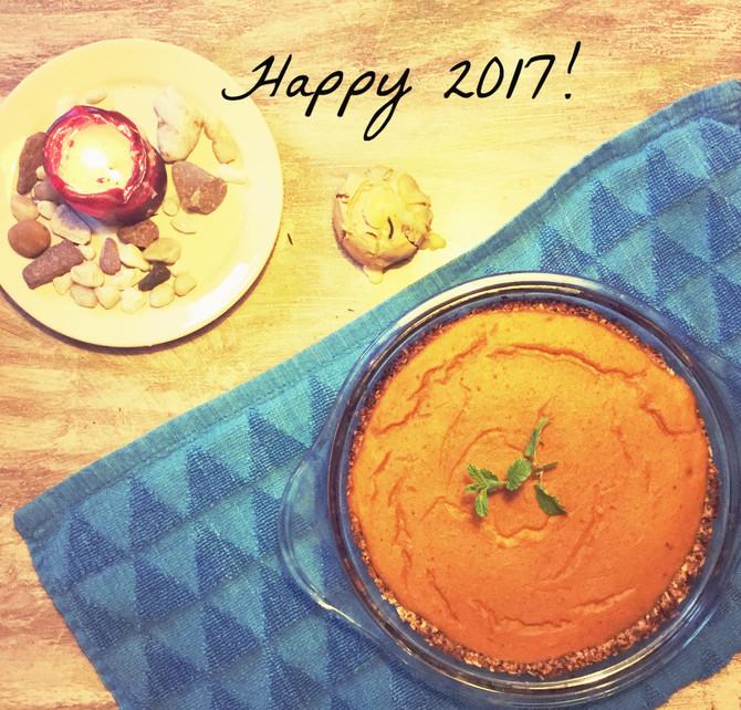 Onze healthy nieuwjaarstaart! Pumpkin 'cheese'pie!