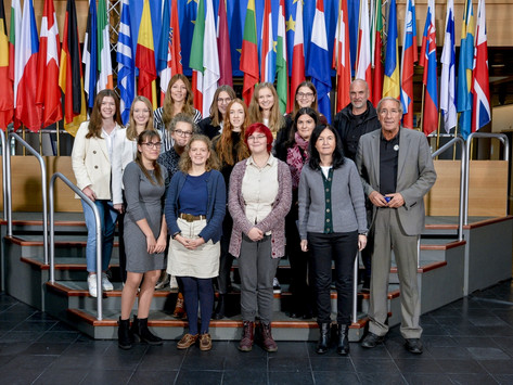 Europa live - Französischkurse des EKG Adenau im EU-Parlament