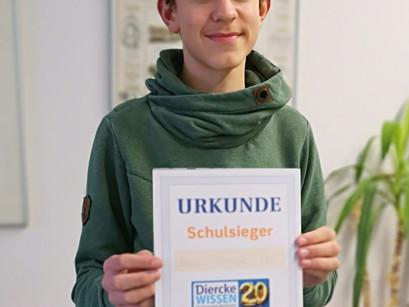 Diercke WISSEN 2020: Robin Kuhnigk ist Schulsieger
