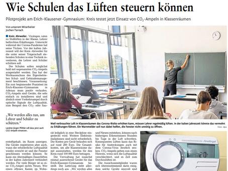 Wie Schulen das Lüften steuern können (Rhein-Zeitung)