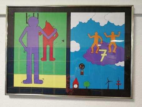 Sprichwörter/Redewendungen im Stile Keith Harings (Klasse 7)