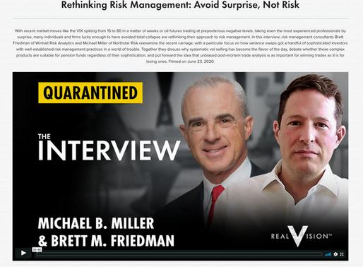 Rethinking Risk Management: Avoid Surprise, Not Risk.