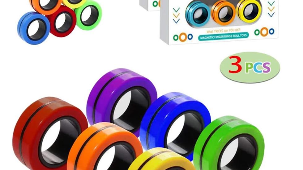 3pc Fidget Toys Magnetic Bracelet