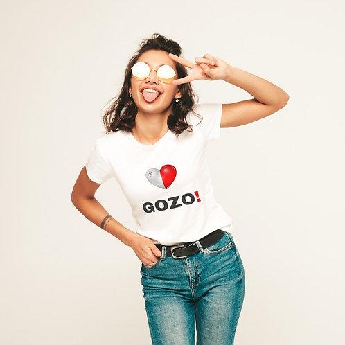I Love Gozo White T Shirt (Ladies)