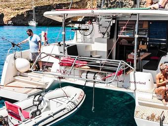 Luxury Day Charter Catamaran From Malta to Comino Gozo