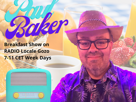 Paul Baker Joins RADIO Locale Gozo Malta