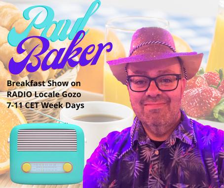 Paul Baker Joins RADIO Locale Gozo Malta