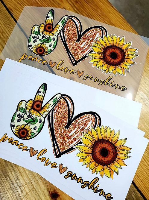 Peace Love Sunshine HTV Transfer