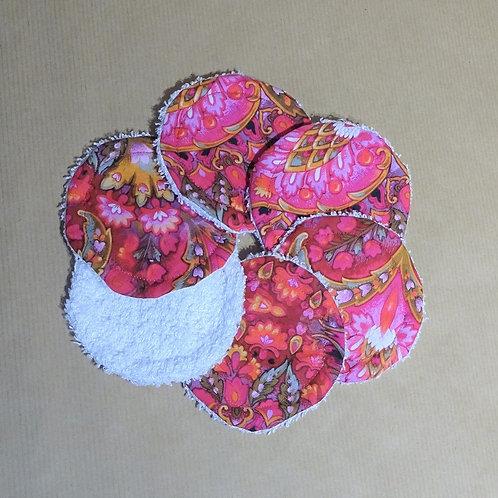 6 Lingettes démaquillantes lavables éponge de bambou et coton Oeko-tex