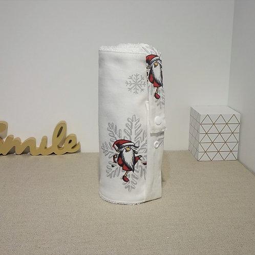 Essuie tout lavable 8 feuilles éponge de bambou blanche et toile imprimée Père N