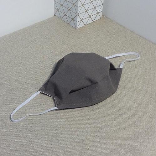 Masque TAUPE coton 2 couches, 2 plis, pince nez.