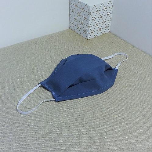Masque Tissu bleu pétrole, coton 2 couches, 2 plis, pince nez am