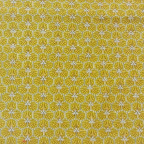 Masque Tissu RIAD Soleil coton 2 couches, 2 plis, pince nez.