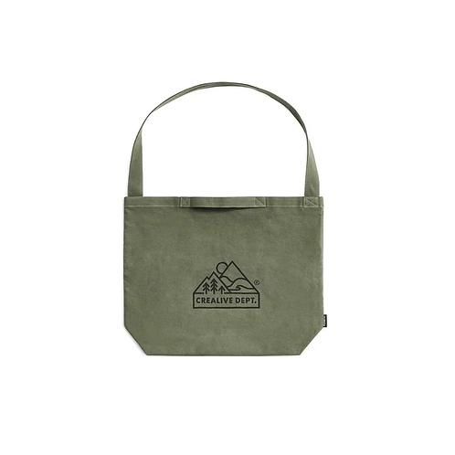 Filter017 CREALIVE DEPT. Mountain Peak Logo Sling Tote