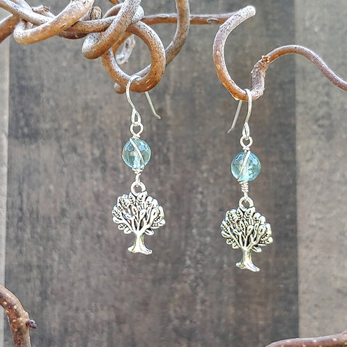 Fluorite Tree Earrings