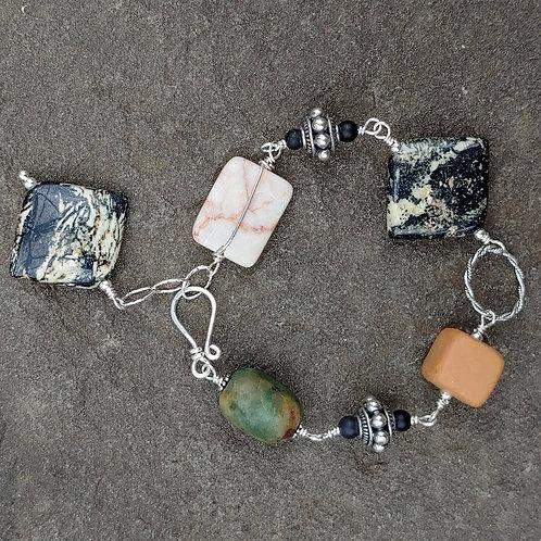 Earthy Stones Link Bracelet