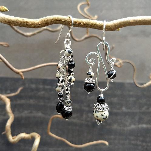 Dalmatian Jasper Sister Earrings