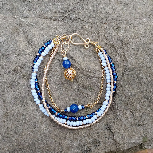 Blue Magic Multi-strand Bracelet