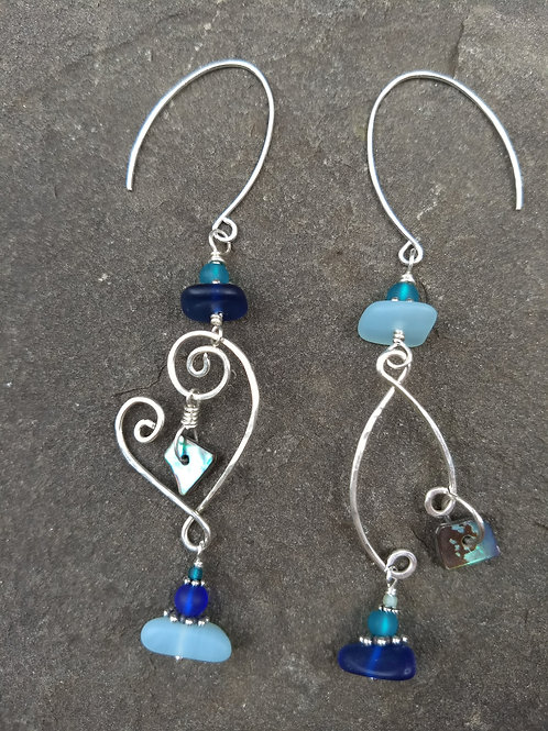 Sea Breezes Sister Earrings