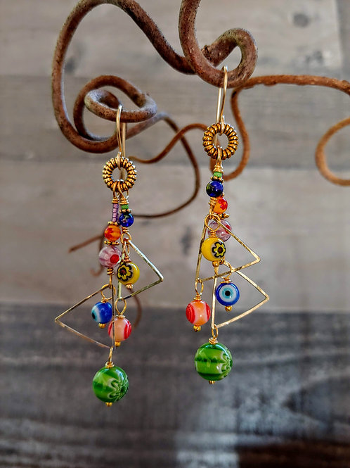 Carnevale di Colori Earrings
