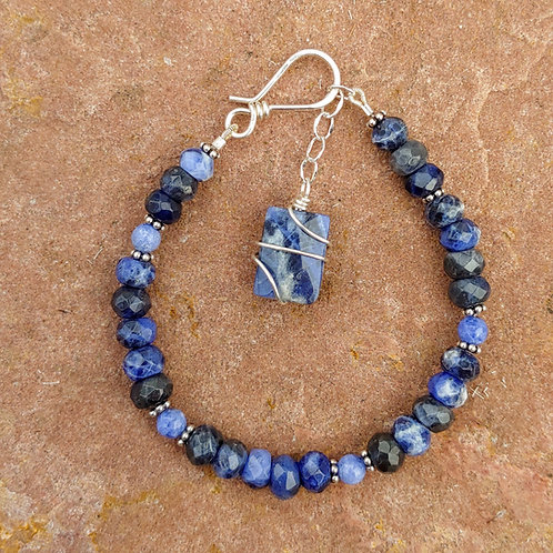 Sodalite Stones with Sterling Accents