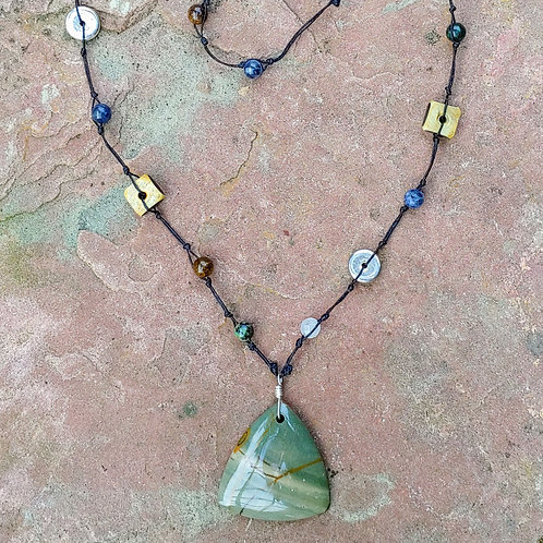 Long n Funky Knotted Necklace