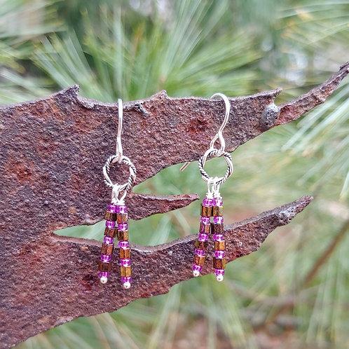 Hex Seed Bead Earrings