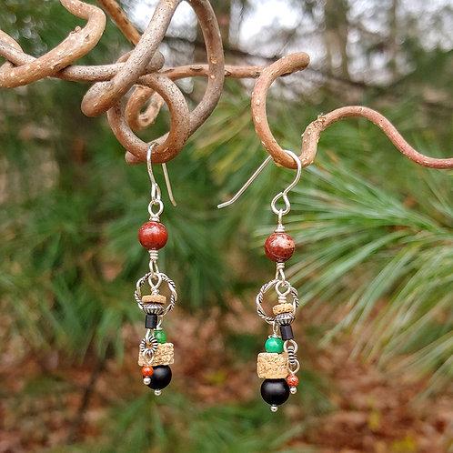 Crinoid Multstone Earrings