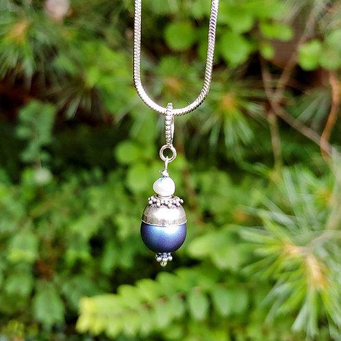 Blue Pearl Fancy Pendant