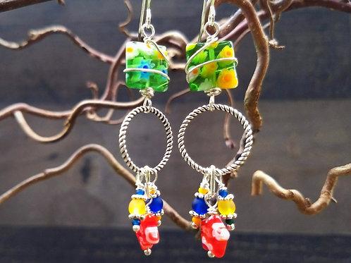 Carnevale Fancy Twin Earrings