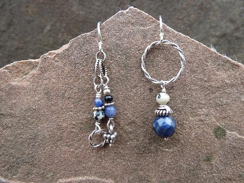 Blue Earth Sister Earrings