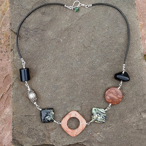 Earthy Stones Link Necklace