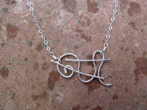 Winter Music Necklace