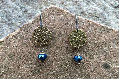 Vintage Tiny Medallion Earrings