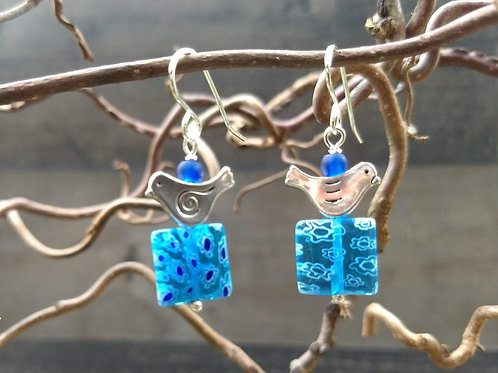 Carnevale Bluebird Earrings