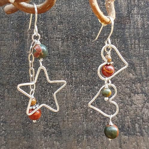 Earth Loving Star Sister Earrings